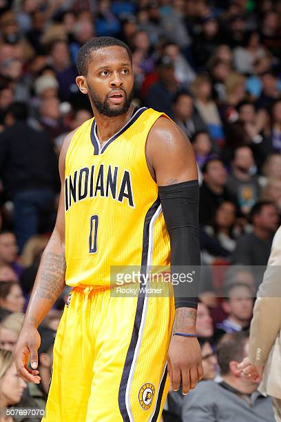 J Miles of the Indiana Pacers looks on during the game against the Sacramento Kings on January 23 2016 at Sleep Train Arena in Sacramento California...
