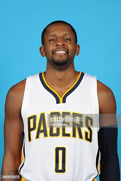 J Miles of the Indiana Pacers poses for a head shot during the Indiana Pacers media day at Bankers Life Fieldhouse on September 28 2015 in...
