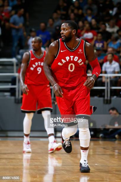 Miles of the Toronto Raptors looks on during the preseason game against the LA Clippers on October 1 2017 at the Stan Sheriff Center in Honolulu HI...