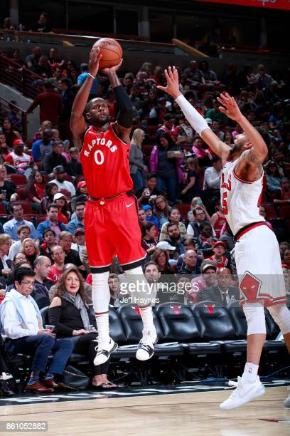 Miles of the Toronto Raptors shoots the ball against the Chicago Bulls on October 13 2017 at the United Center in Chicago Illinois NOTE TO USER User...