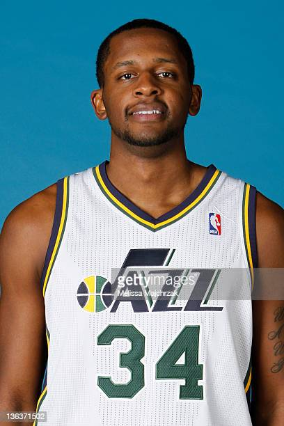 J Miles of the Utah Jazz poses for a portrait during the Utah Jazz Media Day at Zions Basketball Center on December 09 2011 in Salt Lake City Utah...