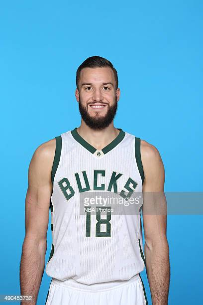 Miles Plumee of the Milwaukee Bucks poses for a portrait during Media Day on September 28 2015 at the Orthopaedic Hospital of Wisconsin Training...