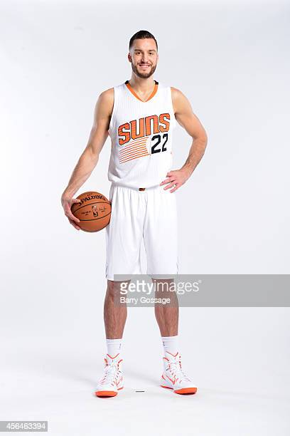Miles Plumlee of the Phoenix Suns poses for a photo during Media Day on September 29 2014 at US Airways Center in Phoenix Arizona NOTE TO USER User...