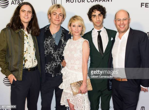 Miles Robbins Ross Lynch Anne Heche Alex Wolff and Marc Meyers attend the 'My Friend Dahmer' Premiere during 2017 Tribeca Film Festival at Cinepolis...