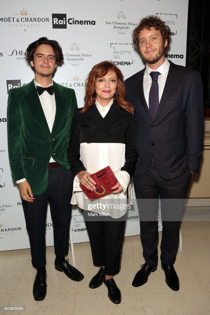 Miles Robbins, Susan Sarandon and Jack Henry Robbins attend the Human Flow Party during the 74th Venice Film Festival at San Clemente Palace Hotel on September 1, 2017 in Venice, Italy.