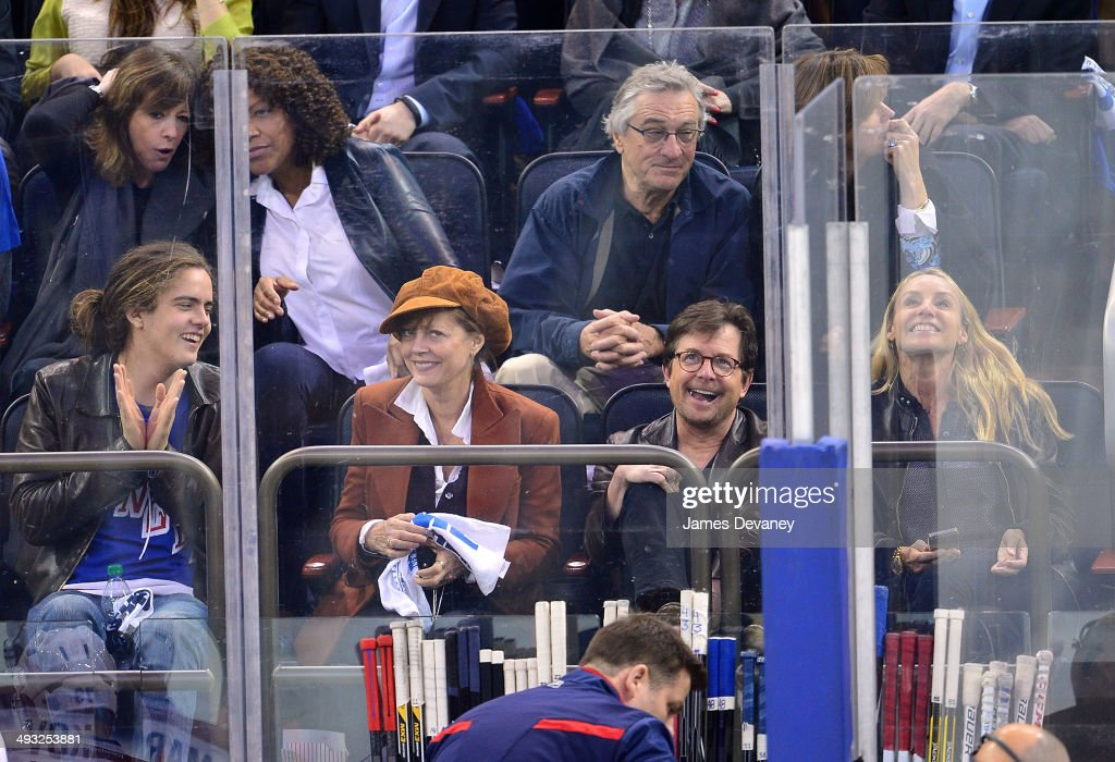 Celebrities Attend The Montreal Canadiens Vs The New York Rangers  - May 22, 2014