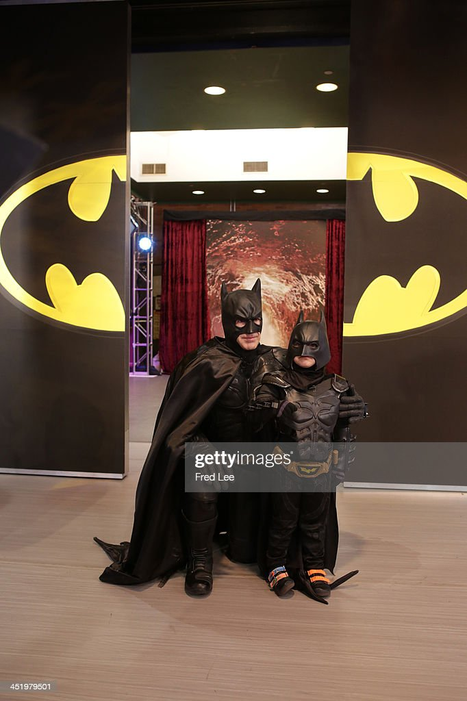 AMERICA - Miles Scott, also known as 'Batkid,' saves the day on 'Good Morning America,' 11/25/13, airing on the ABC Television Network (Photo by Fred Lee/ABC via Getty Images)BATMAN, MILES
