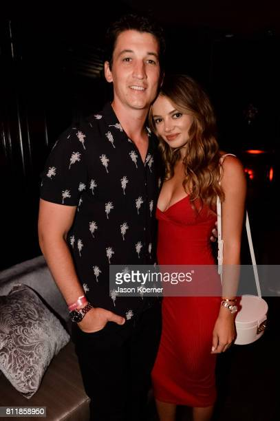 Miles Teller and Keleigh Sperry at the 2017 AllStar Bash sponsored by Captain Morgan during MLB AllStar Week Miamion July 9 2017 in Miami Beach...