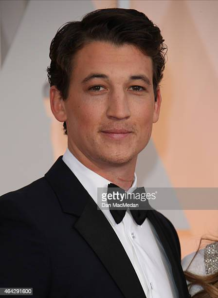Miles Teller arrives at the 87th Annual Academy Awards at Hollywood Highland Center on February 22 2015 in Los Angeles California