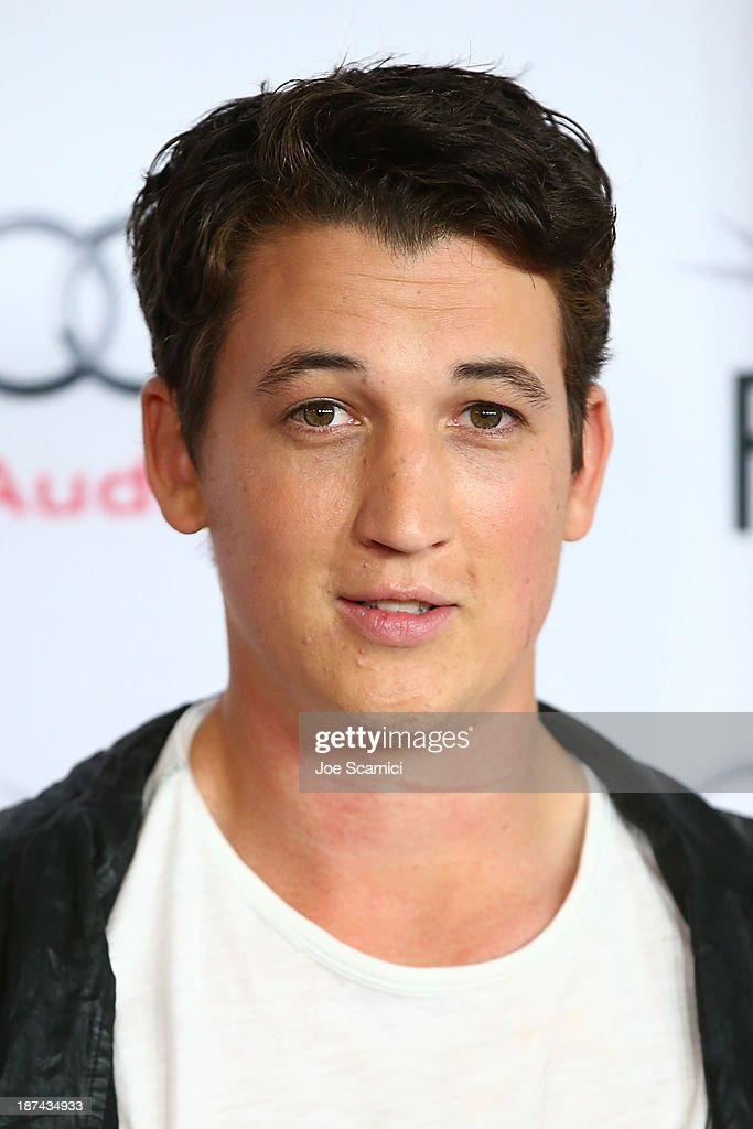 Miles Teller arrives at the AFI FEST 2013 Presented By Audi - Los Angeles Times Young Hollywood Roundtable at TCL Chinese Theatre on November 8, 2013 in Hollywood, California.
