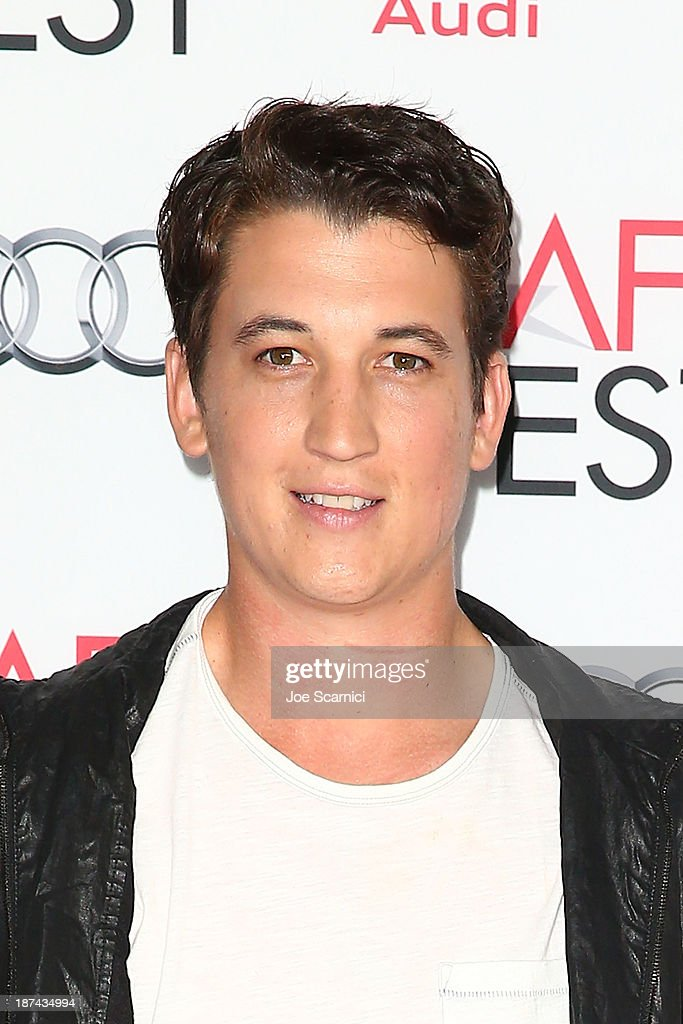 <a gi-track='captionPersonalityLinkClicked' href=/galleries/search?phrase=Miles+Teller&family=editorial&specificpeople=6471673 ng-click='$event.stopPropagation()'>Miles Teller</a> arrives at the AFI FEST 2013 Presented By Audi - Los Angeles Times Young Hollywood Roundtable at TCL Chinese Theatre on November 8, 2013 in Hollywood, California.