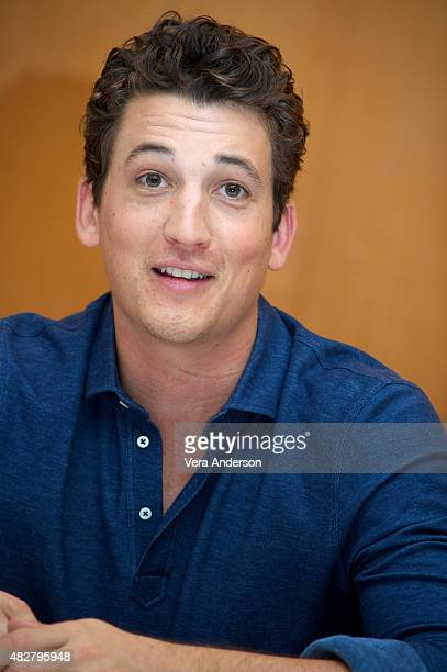 Miles Teller at the 'Fantastic Four' Press Conference at the Four Seasons Hotel on August 1 2015 in New York City