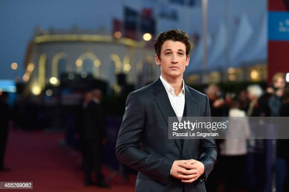 Miles Teller attends 'The November man' premiere on September 11 2014 in Deauville France