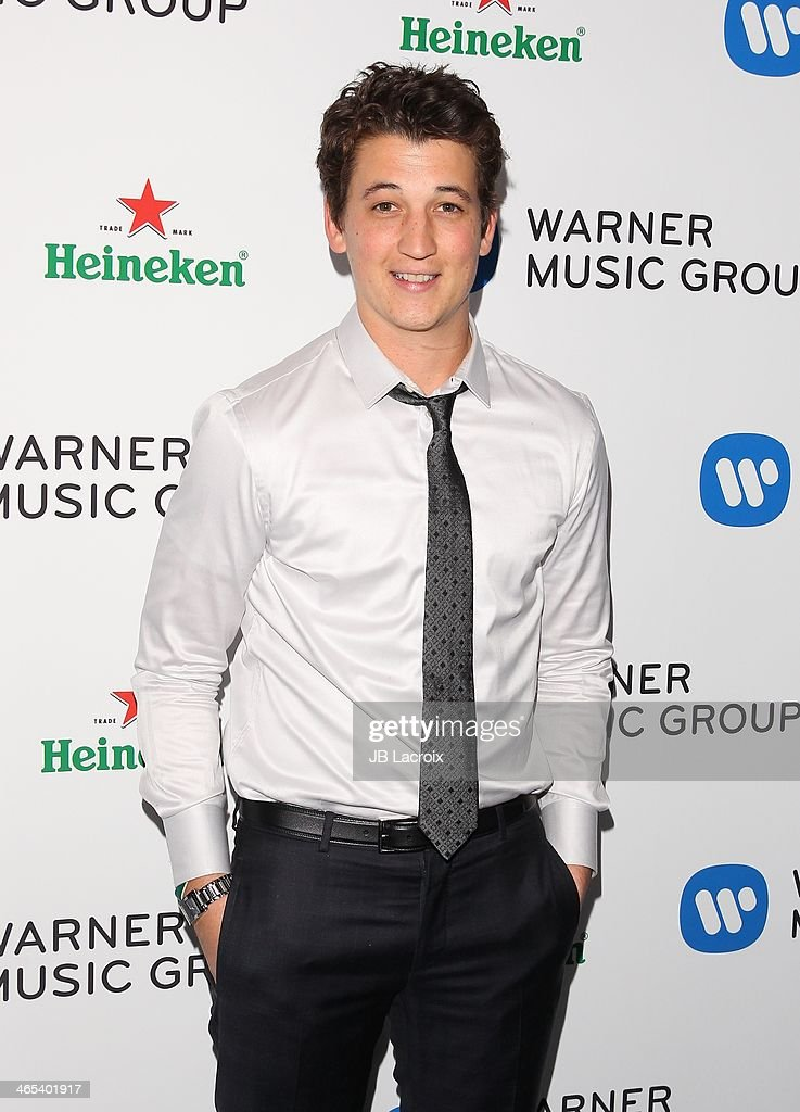 <a gi-track='captionPersonalityLinkClicked' href=/galleries/search?phrase=Miles+Teller&family=editorial&specificpeople=6471673 ng-click='$event.stopPropagation()'>Miles Teller</a> attends the Warner Music Group Hosts Annual Grammy Celebration held at Sunset Tower on January 26, 2014 in West Hollywood, California.