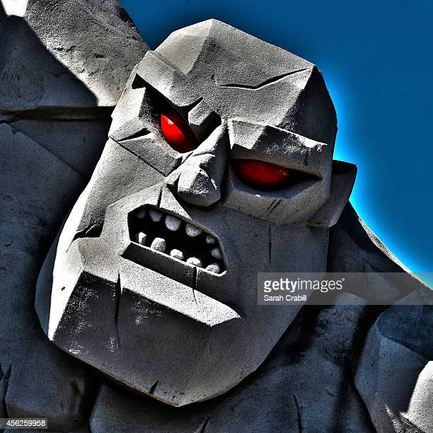 Miles the Monster is seen before the NASCAR Sprint Cup Series AAA 400 at Dover International Speedway on September 28 2014 in Dover Delaware