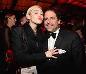 Miley Cyrus and Brett Ratner attend the 2015 Vanity Fair Oscar Party hosted by Graydon Carter at the Wallis Annenberg Center for the Performing Arts...