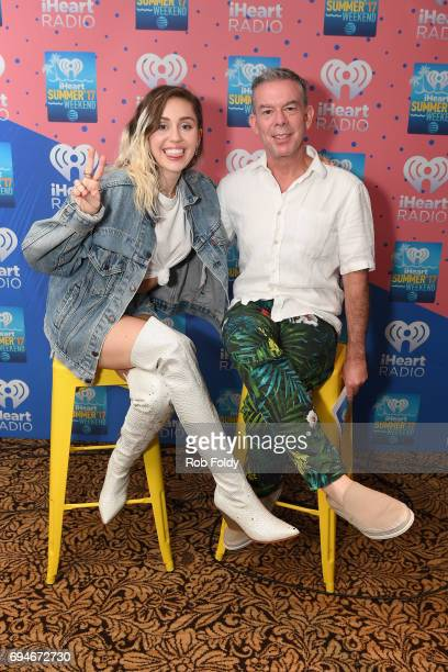 Miley Cyrus and Elvis Duran attend iHeartSummer '17 Weekend by ATT at Fontainebleau Miami Beach on June 10 2017 in Miami Beach Florida