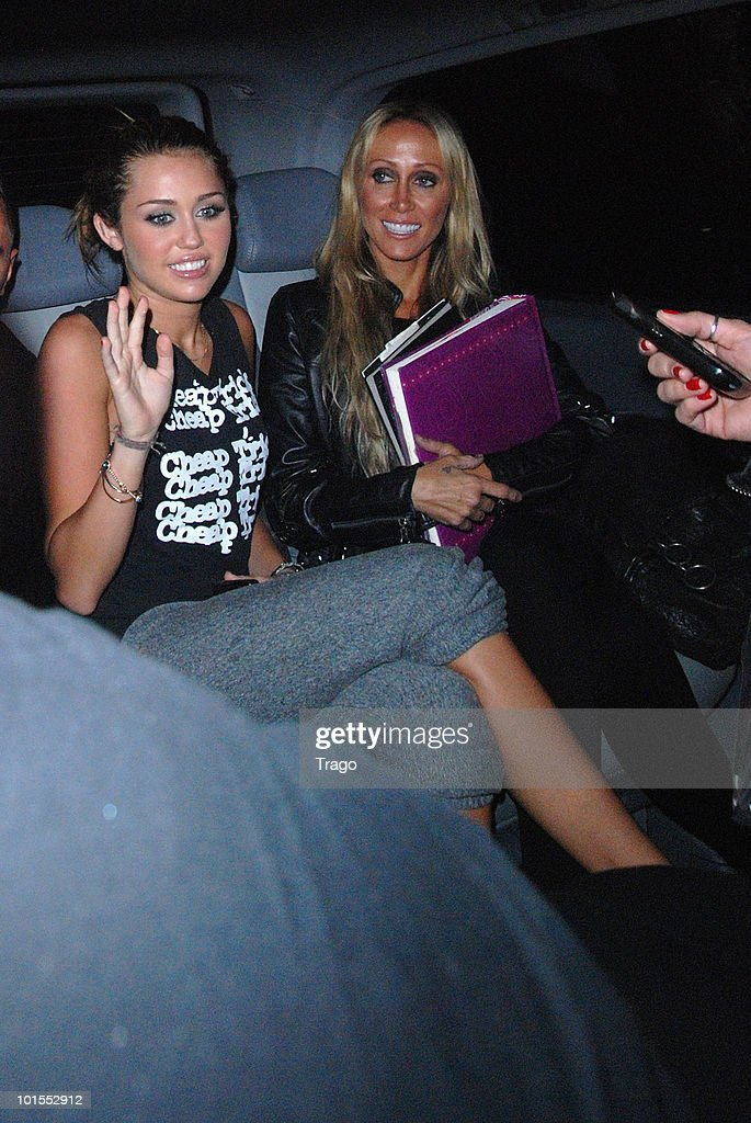 <a gi-track='captionPersonalityLinkClicked' href=/galleries/search?phrase=Miley+Cyrus&family=editorial&specificpeople=3973523 ng-click='$event.stopPropagation()'>Miley Cyrus</a> and her mother Leticia Cyrus sighting at 1515 in paris on June 1, 2010 in Paris, France.