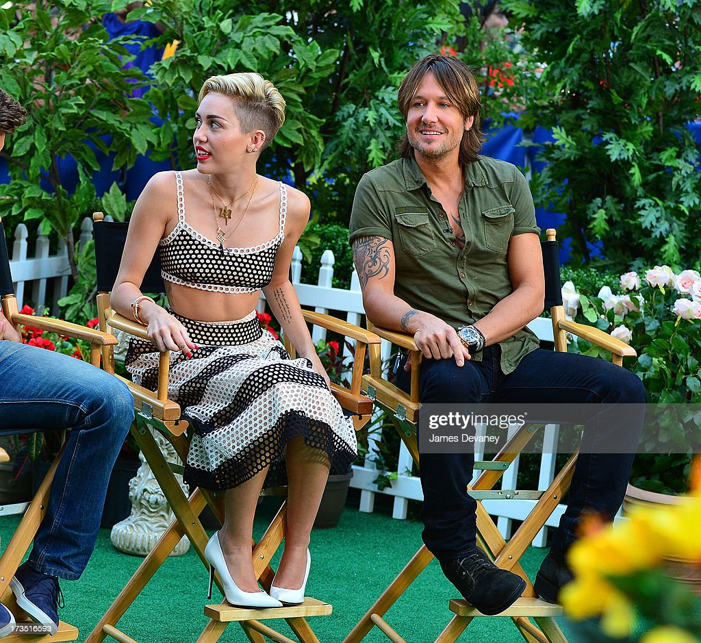 Miley Cyrus and Keith Urban visit ABC's 'Good Morning America' on July 15, 2013 in New York, United States.