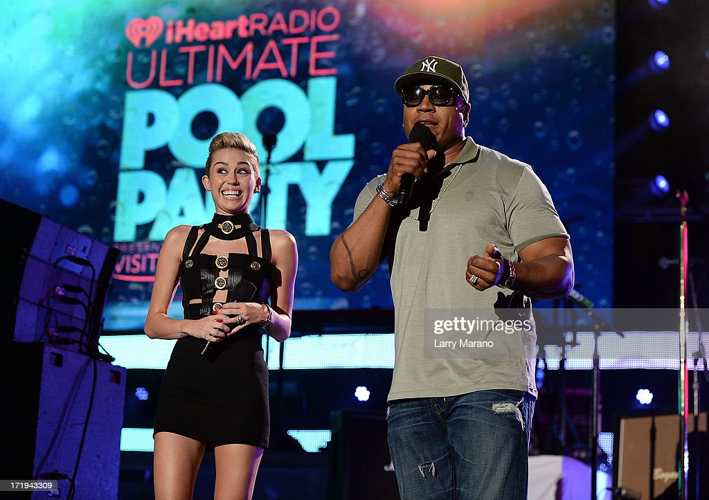 Miley Cyrus and LL Cool J host the iHeartRadio Ultimate Pool Party Presented by VISIT FLORIDA at Fontainebleau's BleauLive in Miami on June 29, 2013 in Miami Beach, Florida.