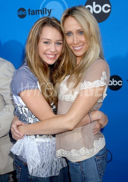 Miley Cyrus and mom Tish during ABC All Star Party 2006 ...