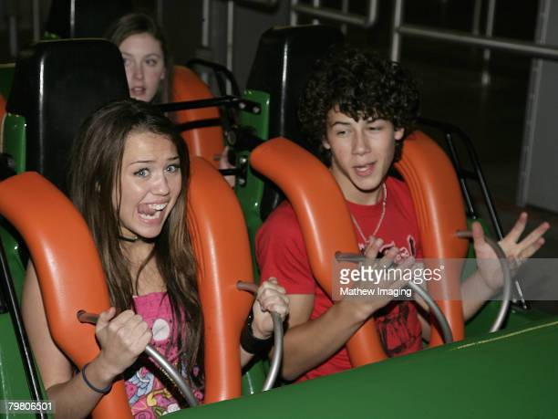 Miley Cyrus and Nick Jonas *EXCLUSIVE*