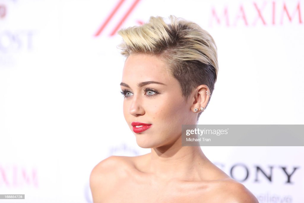 Miley Cyrus arrives at the Maxim 2013 Hot 100 Party held at Create on May 15 2013 in Hollywood California
