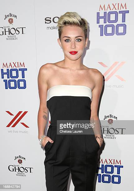 Miley Cyrus arrives for Maxim's Hot 100 Celebration at Create Nightclub on May 15 2013 in Hollywood California