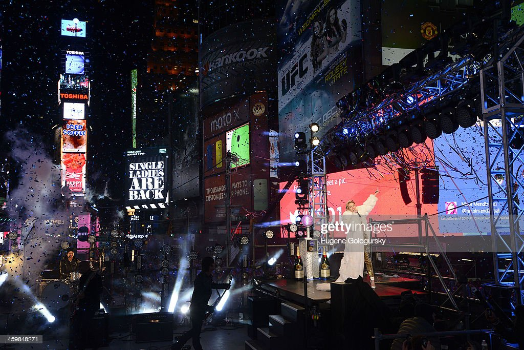 Miley Cyrus at New Year's Eve Countdown at Times Square on December 31, 2013 in New York City.