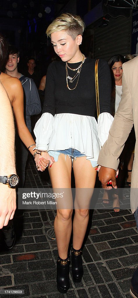 Miley Cyrus at the Box night club on July 20, 2013 in London, England.