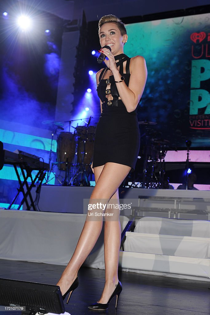 Miley Cyrus attend the iHeartRadio Ultimate Pool Party Presented By VISIT FLORIDA At Fontainebleau's BleauLive at Fontainebleau Miami Beach on June 29, 2013 in Miami Beach, Florida.