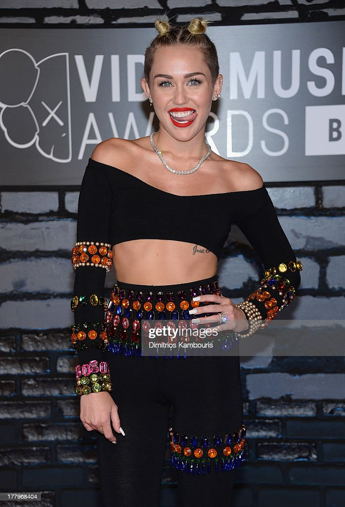 Miley Cyrus attends the 2013 MTV Video Music Awards at the Barclays Center on August 25, 2013 in the Brooklyn borough of New York City.