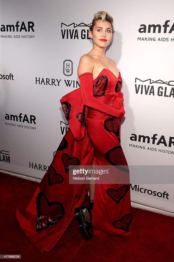 <a gi-track='captionPersonalityLinkClicked' href=/galleries/search?phrase=Miley+Cyrus&family=editorial&specificpeople=3973523 ng-click='$event.stopPropagation()'>Miley Cyrus</a> attends the 2015 amfAR Inspiration Gala New York at Spring Studios on June 16, 2015 in New York City.