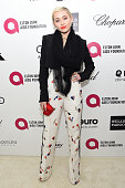 Miley Cyrus attends the 23rd Annual Elton John AIDS Foundation Academy Awards Viewing Party on February 22 2015 in Los Angeles California