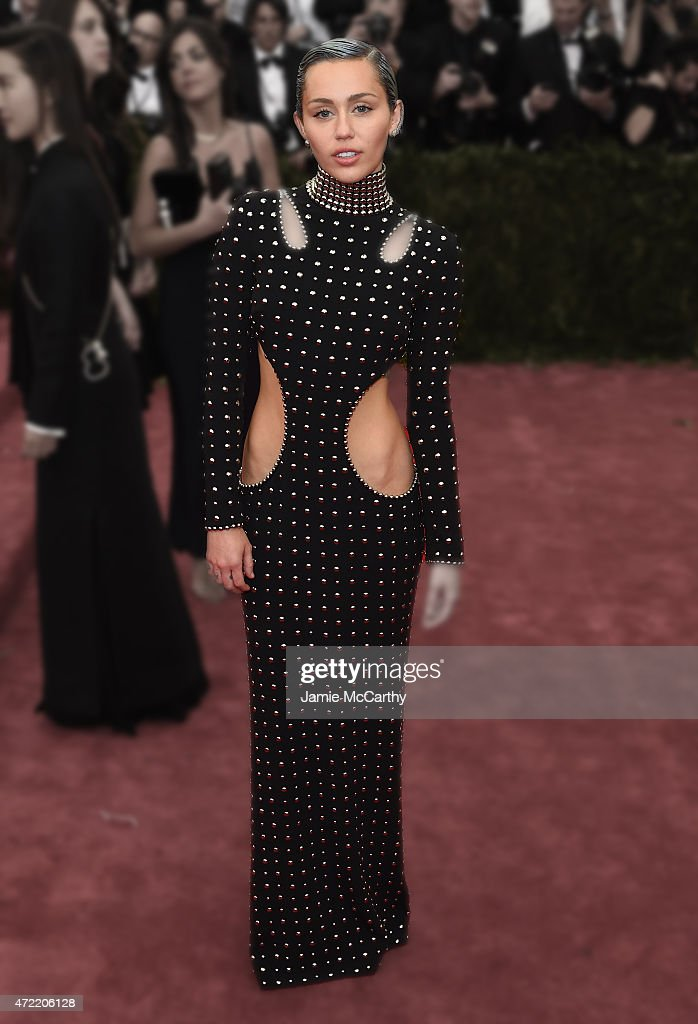 Miley Cyrus attends the 'China: Through The Looking Glass' Costume Institute Benefit Gala at the Metropolitan Museum of Art on May 4, 2015 in New York City.