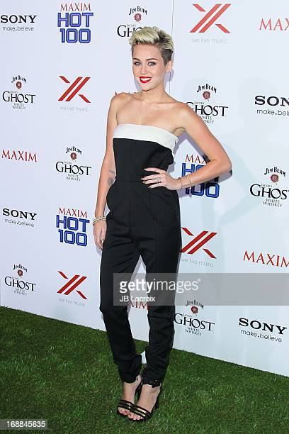 Miley Cyrus attends the Maxim 2013 Hot 100 Party held at Create on May 15 2013 in Hollywood California