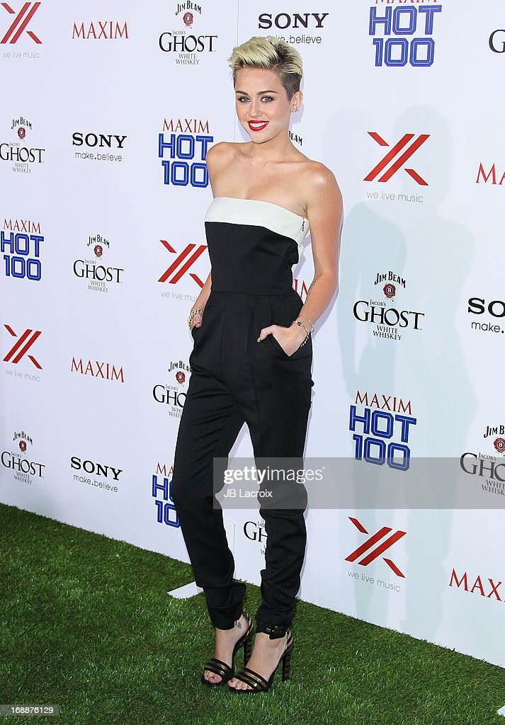 <a gi-track='captionPersonalityLinkClicked' href=/galleries/search?phrase=Miley+Cyrus&family=editorial&specificpeople=3973523 ng-click='$event.stopPropagation()'>Miley Cyrus</a> attends the Maxim 2013 Hot 100 party held at Create on May 15, 2013 in Hollywood, California.