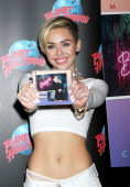 Miley Cyrus attends the Miley Cyrus 'Bangerz' Record Release Signing at Planet Hollywood Times Square on October 8 2013 in New York City