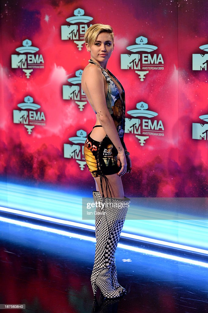Miley Cyrus attends the MTV EMA's 2013 at the Ziggo Dome on November 10, 2013 in Amsterdam, Netherlands.