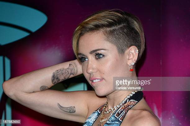 Miley Cyrus attends the MTV EMA's 2013 at Ziggo Dome on November 10 2013 in Amsterdam Netherlands