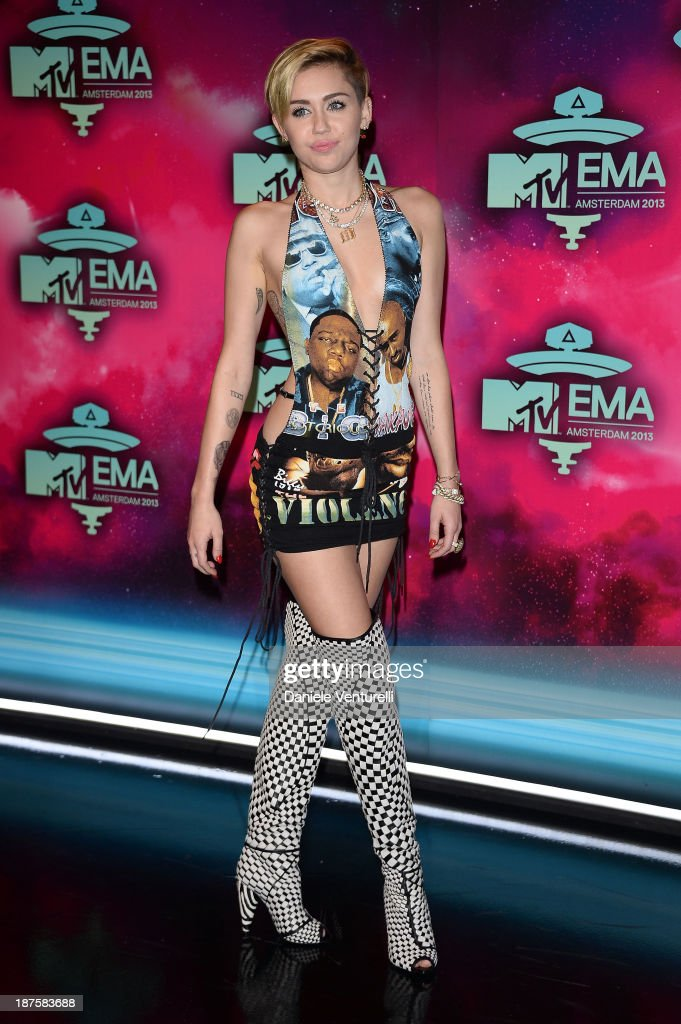 Miley Cyrus attends the MTV EMA's 2013 at Ziggo Dome on November 10, 2013 in Amsterdam, Netherlands.