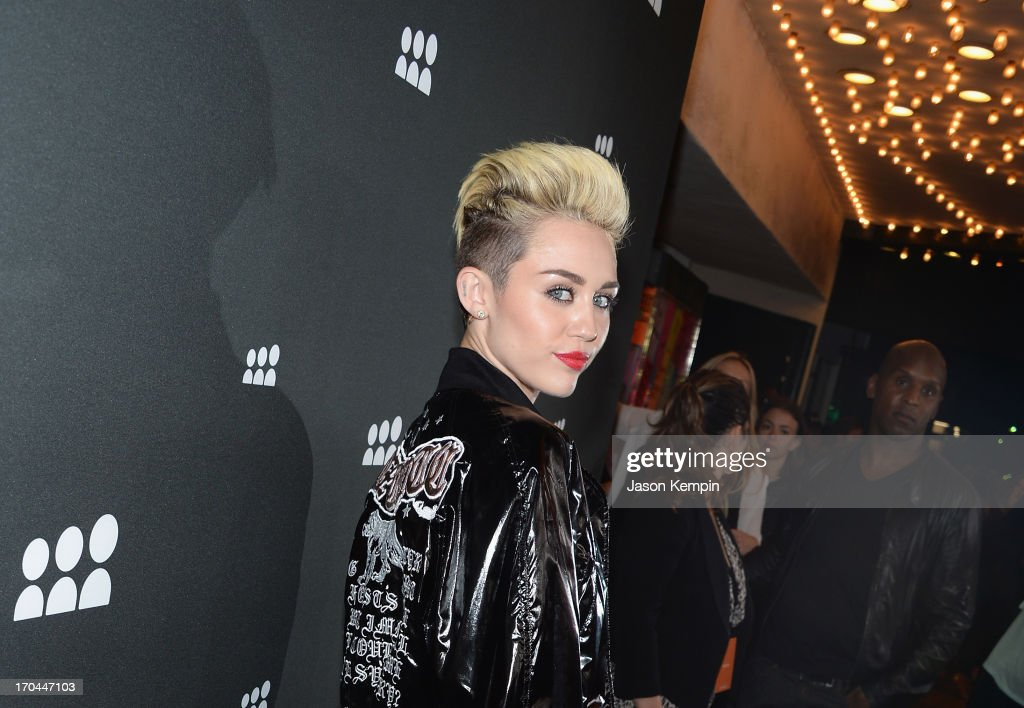 Miley Cyrus attends the New Myspace launch event on June 12, 2013 in Los Angeles, California.