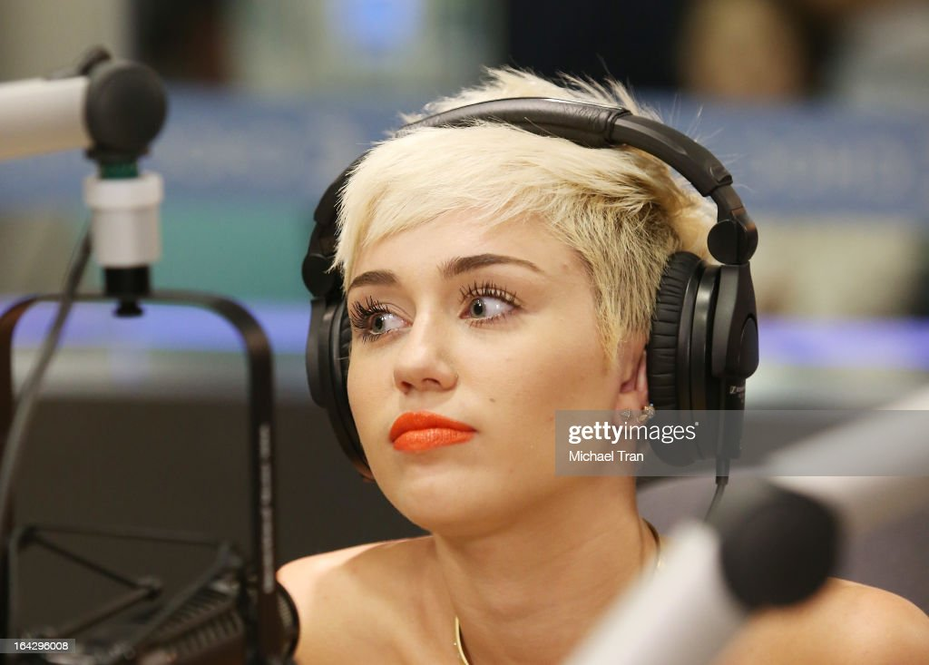 Miley Cyrus attends The Ryan Seacrest Foundation West Coast debut of new multi-media broadcast center 'Seacrest Studios' held at CHOC Children's Hospital on March 22, 2013 in Orange, California.