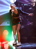 Miley Cyrus attends Wetten dass tv show on November 09 2013 in Halle an der Saale Germany