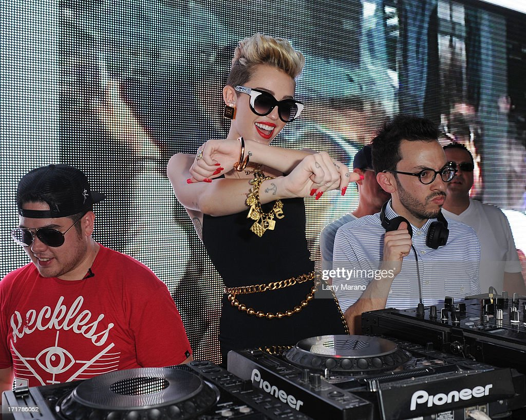 <a gi-track='captionPersonalityLinkClicked' href=/galleries/search?phrase=Miley+Cyrus&family=editorial&specificpeople=3973523 ng-click='$event.stopPropagation()'>Miley Cyrus</a> attends Y100's Mackapoolza at the Clevelander South Beach on June 28, 2013 in Miami Beach, Florida.