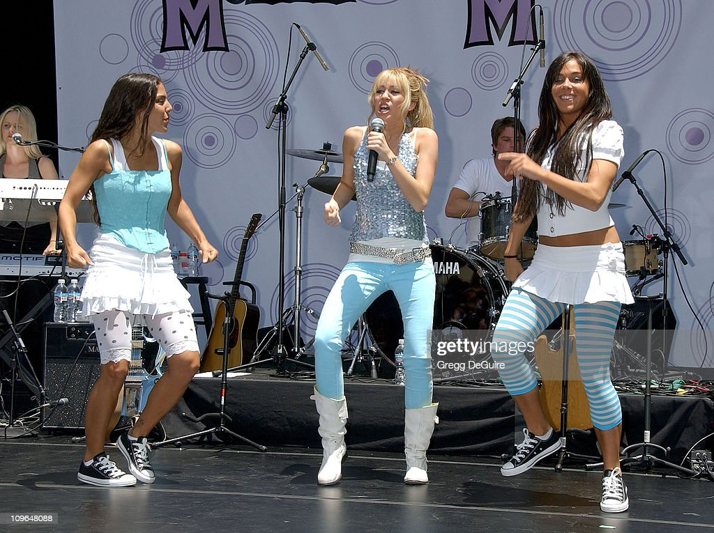 Disney channel superstar hannah montana miley cyrus performs a free