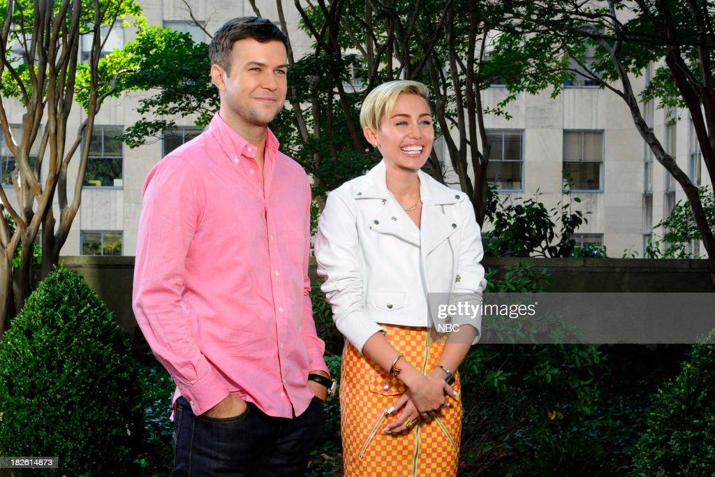 LIVE -- 'Miley Cyrus' Episode 1643 -- Pictured: (l-r) Taran Killam, Miley Cyrus --
