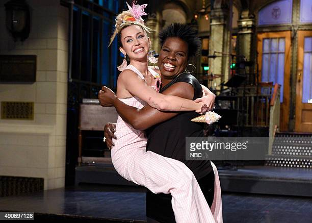 LIVE 'Miley Cyrus' Episode 1684 Pictured Miley Cyrus and Leslie Jones on October 1 2015
