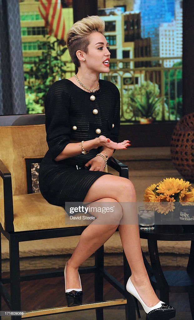 MICHAEL -6/26/13 - Miley Cyrus is a guest on 'LIVE with Kelly and Michael,' distributed by Disney-ABC Domestic Television. MILEY