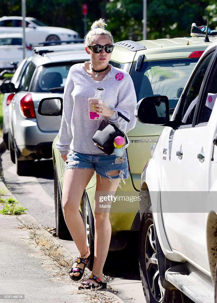 Miley Cyrus is seen on April 29, 2016 in Byron Bay, Australia.